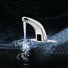 Infrarot Sensor Wasserhahn Automatik Armatur Waschbecken Mischbatterie Chrom für Waschbecken