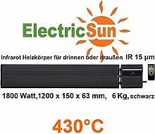 Infrarotheizung 1800 Watt ElectricSun schwarz, mit
