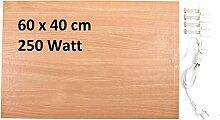 Infrarotheizung 250 Watt Flachheizung Elektroheizung Infrarotheizpaneel Heizpanel