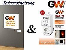 Infrarotheizung 400 Watt Basic inkl.Steckdosenthermostat Elektroheizung Infraro