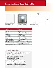 Infrarotheizung Glaswärmt//verschiedene Größen Metall&Basic 300,400,450,550,700,900 &1100 Watt Elektroheizung-Austellungsstücke (Weiß IMP 900 Watt 1200x600)