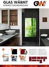 Infrarotheizung Infrarot 900 Watt Metall-Premium Weiss Wand & Deckenmontage Glaswärmt Heizung Tüv Geprüf