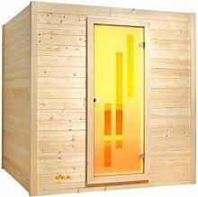 Infraworld Sauna Fiona 204 x 162 cm inkl. Ofen und Steuerung