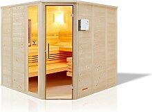 Infraworld Sauna Urban Complete Massivholz 209 x 209 cm 391034
