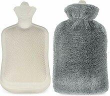 Infreecs Wärmflasche mit Flauschbezug 2 Liter -