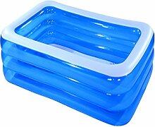 INFT Kind Aufblasbare Schwimmbecken Familie Sehr Großer Ozean Pool,Blue-82.67in