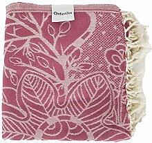InfuseZen Türkisches Handtuch mit Blumendruck und