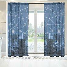 ingbags Elegante Voile Fenster Lange Sheer Vorhang