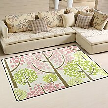 ingbags Super Weich Moderner Spring Forest Vector Muster, ein Wohnzimmer Teppiche Teppich Schlafzimmer Teppich für Kinder Play massiv Home Decorator Boden Teppich und Teppiche 152,4x 99,1cm