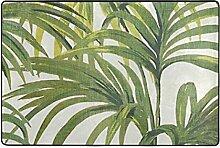 ingbags Tropische Palmen Blatt Wohnzimmer Essbereich Teppiche 3x 2Füße Bed Room Teppiche Büro Rugs Moderner Boden Teppich Home Decor, multi, 6 x 4 Fee