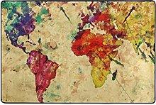 ingbags Welt Karte Wohnzimmer Essbereich Teppiche 3x 2Füße Bed Room Teppiche Büro Rugs Moderner Boden Teppich Home Decor, multi, 3 x 2 Fee