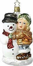 Inge-glas 1-049-15 Schneemann Girl Best Friends
