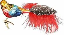 Inge-glas 10159S018 Dekovogel Exotischer Papagei,