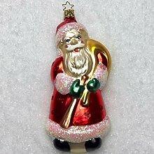 Inge-glas Anhänger Weihnachtsmann mit Sack & Rute