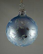 INGE-Glas Christbaumkugel 6 cm eisblau