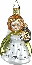 Inge-glas Christbaumschmuck Engel mit Laterne