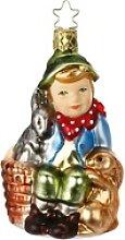 INGE-GLAS® Christbaumschmuck Hasenfreund 10cm,