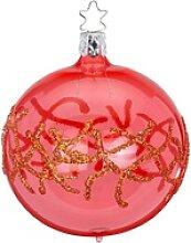 INGE-GLAS® Weihnachtsbaumkugel Seenelke coralle