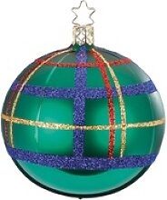 INGE-GLAS® Weihnachtsbaumkugel Squared waldgrün