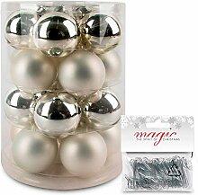 IngeGlas 20 Christbaumkugeln aus Glas -