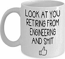 Ingenieur Ruhestand Kaffee-Haferl - Geschenkidee