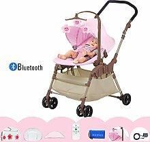 Ingenuity, tragbare Babyschaukel, Cozy Kingdom/Pink