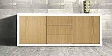 InHouse srls Anrichte, in Holz mit 2 Türen und 3