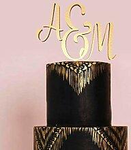Initial Cake Topper Monogramm Letter Cake Topper