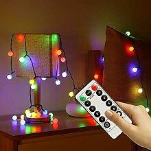 InLife Kugel LED Lichterkette aus Kupferdraht, mit