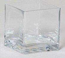 INNA-Glas Blumentopf KUNO, Würfel - viereckig,