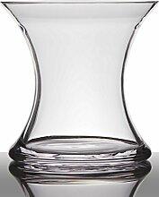 INNA Glas Blumenvase Glas Liz, Sanduhr/rund, klar,