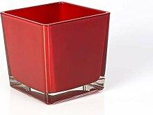INNA-Glas Großes Teelicht Glas Kim, rot,