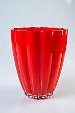 INNA Glas - Kleine Glasvase/Tischvase BEA, rot, 17