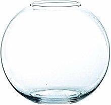 /Ø 18cm Windlichtglas Kugel 14cm /Ø 12cm rund klar INNA-Glas Votivglas Diana