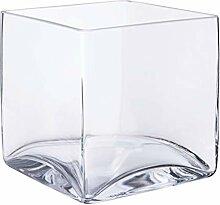 INNA-Glas Quadratische Glasvase - Glaswürfel