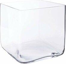 INNA-Glas Quadratische Glasvase Jack, klar,