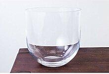 INNA Glas Runde Glasvase Emma, klar, 23 cm, Ø 23