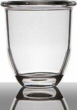 INNA Glas Set 2 x Blumentopf Fynn, Trichter/Rund,