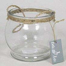 INNA Glas Set 8 x Teelichthalter Janie mit