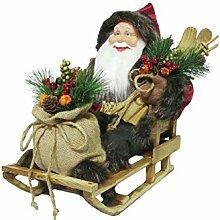 INNA Glas Weihnachtsmann Gideon mit Schlitten,