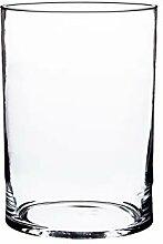 INNA Glas Zylindrische Glas Vase Sansa,