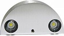 Innen 3W LED Wandleuchte, gzqes, AC110V/220V schlafzimmer Dekorieren, halbrund des LED Wand Lampe Warmweiß