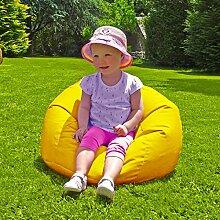 Innen- / Außen Kleine Kinder Sitzsack - Gelb