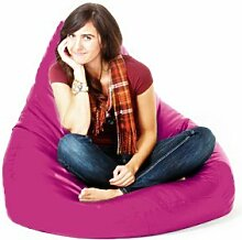 Innen Außen Kunstleder Gefüllt Sitzsack Gaming Sessel Stuhl Lounger, Erhältlich in 11 Farben - Rosa