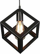 Innenbeleuchtung Metall Kronleuchter, schwarze Matte Deckenleuchte hat eine einzigartige geometrische Design E27 Basis 1 Licht [Energie Klasse A +] ( Farbe : A )