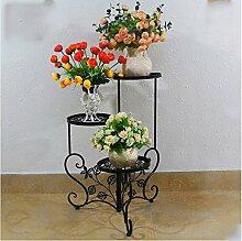 Innenblumenregale Indoor Flower Racks Iron Multilayer Blumenständer Wohnzimmer Outdoor Blumen Racks Europäische Blumen Racks Balkon Blumen Racks Pflanzen Blumen Racks Outdoor Blumenregale ( Farbe : #2 )