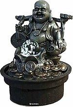 Innenbrunnen Zimmerbrunnen Buddha Reisender 20 cm LED Farb Beleuchtung