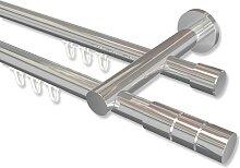 Innenlauf-Gardinenstange Chrom, Metall 20 mm Ø
