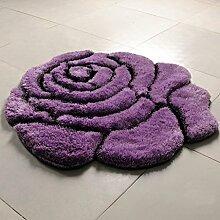 Innenteppich 3D Rose Teppich Kinder Anti-Rutsch-Teppich Matten Wohnzimmer Decke Schlafzimmer (90 * 90CM) Decke ( Farbe : B , größe : 90*90cm )