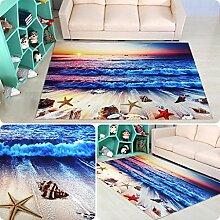 Innenteppich 3D Teppich Cartoon Wohnzimmer Schlafzimmer Teppichboden Quadrat (80 * 80cm) Decke ( Farbe : G , größe : 100*100cm )